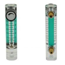 Débitmètre acrylique à montage en panneaux-compteur de verre-oxygène à cristaux liquides