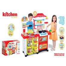 Super-estilo occidental de la cocina de la tienda de juguetes multi-funcional juego de cocina