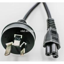 Cordon d'alimentation de 7,5 / 10 / 15A Australie avec des connecteurs C13 C14 C19 C20