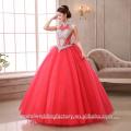 2017 Vestidos de boda coloreados hinchados por encargo nupciales del vestido de bola de Vestidos MW2271