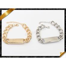 Bracelet en chaîne à fermeture à glissière, bracelet en bijoux européens en gros (FB075)