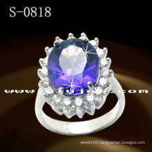 Fashion Jewelry 925 Sterling Silver Diamond Ring