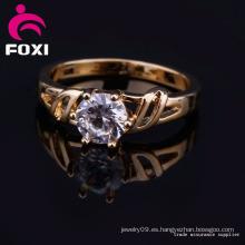 Joyería hecha a mano del anillo de la CZ del contrato de la venta caliente