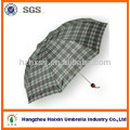 Check Rain 3 Folding Umbrella for Promotion