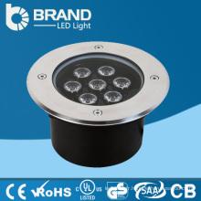 Haute puissance en acier inoxydable de bonne qualité Blanc chaud extérieur 7W Lumière souterraine de LED