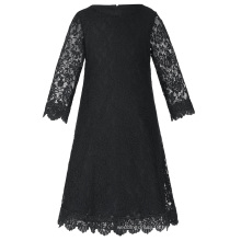 Grace Karin Children Kids Girls 3/4 Sleeve Round Neck Black Lace Flower Girl Dress CL010442-3