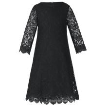 Грейс Карин детей Kids девочек 3/4 рукав круглый шеи черный кружева цветочница платье CL010442-3