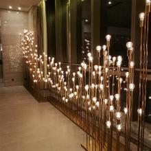 Luz de jardín de cobre de vidrio de decoración de paisaje de luz de vacaciones