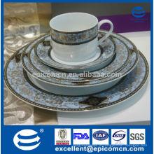 Cerâmica oriental de luxo de alta qualidade, conjunto de servir de jantar de padrão de ouro, dinnerware de ouro popular de 2015
