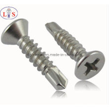 Stainless Steel Countersunk Head Cross Recess Self Drilling Screw