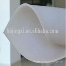 Hoja de caucho de aislamiento transparente blanco