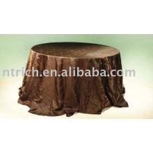 Tafetá pintuck toalha, toalha de mesa para hotel/banquetes, toalhas de mesa