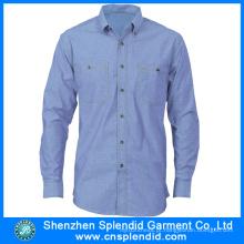 Uniformes 100% baratos do trabalho do algodão dos homens da roupa de Shenhen
