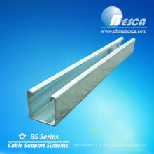 canal uni de alumínio