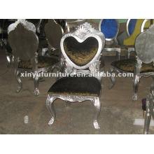 Chaise en bois design en forme de cœur XYD071