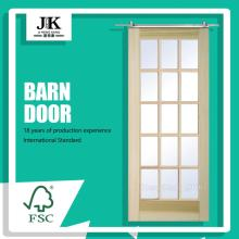 JHK Panel Interior Door White Primer Barn Door