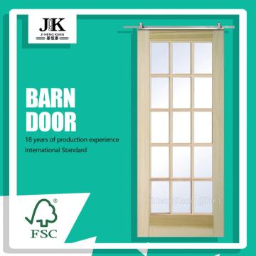 JHK-G24 French Barn Door Sale Cheap Imported Wood Glass Doors