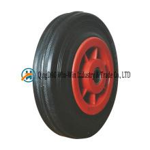 Petite roue en caoutchouc pleine de 125 mm avec jante colorée à rayons