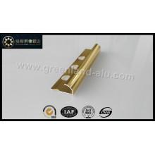 Alumínio rodada ângulo Tile Trim borda com cor de ouro anodizado cetim brilhante