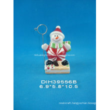 Hand-Painted Ceramic Snowman Business Card Holder