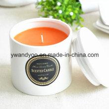 Vela de cera de soja perfumada delicada