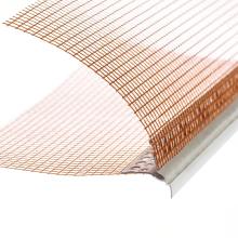 Perle d'angle en PVC avec maille en fibre de verre