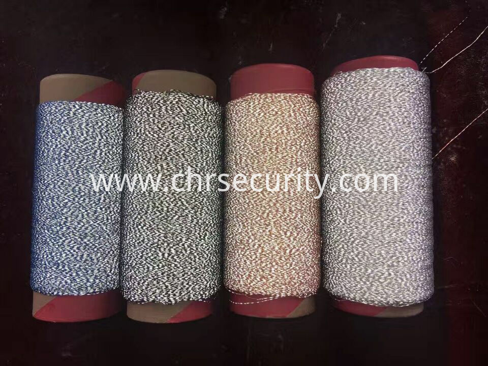 four colour embroidery reflective thread
