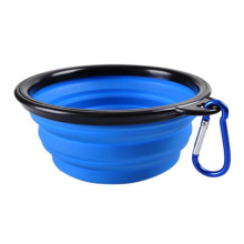 Portable colorful personalized silicone water food bowls