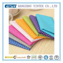Tissu 100% coton imprimé DOT imprimé à la maison de textile