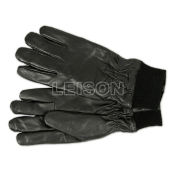 Police Leather Tactical Gloves