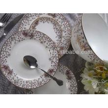"""8 """"10.5"""" placa redonda de forma rectangular niños cenas conjunto de platos baratos de porcelana plana"""
