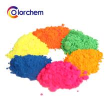 Pó fluorescente do pigmento da resina microscópica para o couro, revestimento, papel da pintura