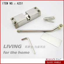 Sprung arm door closer