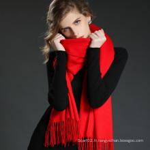 Accessoires de mode Rouge clair Cachemire Wrap Lady Scarf Shawl