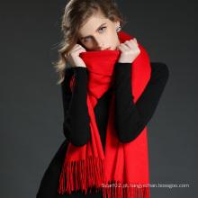 Acessórios de moda Light Red Cashmere Wrap Lady Scarf Shawl
