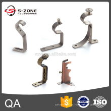 Único e duplo metal pendurado suportes para haste de cortina