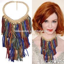 2017 heißer Verkauf Korea Dame samt seil lange halskette Choker Saiten Halskette