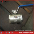 Two Pieces Forged Stainless Steel Threaded Ball Valve