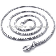Classic acero inoxidable de 2mm de ancho para las mujeres de los hombres unisex collar de cadena joyas