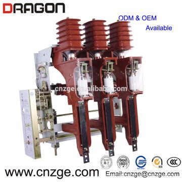 FZRN25A-12 / T200-31.5 interruptor pneumático de alta tensão do vácuo de 12kv do tipo carga