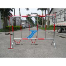 Barrière routière, clôture municipale, clôture temporaire