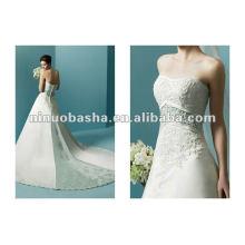 Satin-embrodery heißes verkaufendes Hochzeits-Kleid