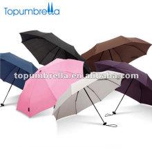 Guarda-chuva super mini forte de 3 dobras