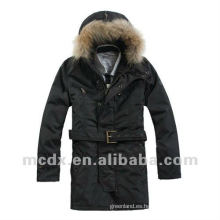 estilo normal acolchado chaqueta cortavientos al aire libre para el hombre