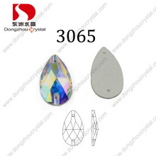Dz-3065 Hot Sale Drop Faceted Glass Jewelry Stone