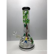 Новейший дизайн ручная роспись стеклянный стакан бонги