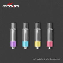 Custom logo vape cartridge cbd oil NO METAL CONTACT 1ml all glass 510 cartridge