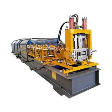 Hydraulic Cutting Steel CZ Purlin Making Machine