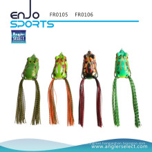 Angler Select Hollow Body Frog Fishing Lure Top Water Tackle Hooks Bass Soft Bait Fishing Fresh Water Lure (FR0105)