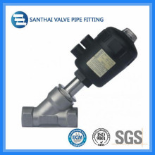 Stainless Steel Plastic Pneumatic Welded Angle Seat Valve